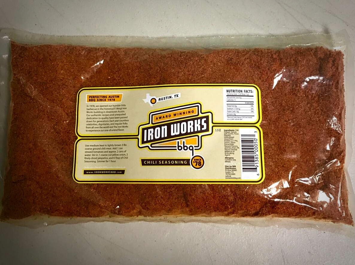 Iron Works Barbecue 1lb Chili Seasoning
